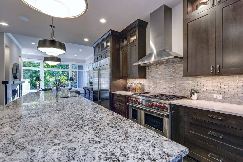 Granite Countertops installed in Lenexa, KSby Precision Countertops & Tile