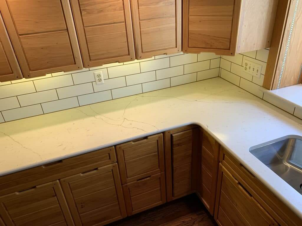 One Quartz, Calacatta Carina countertop, Mission Hills, Kansas