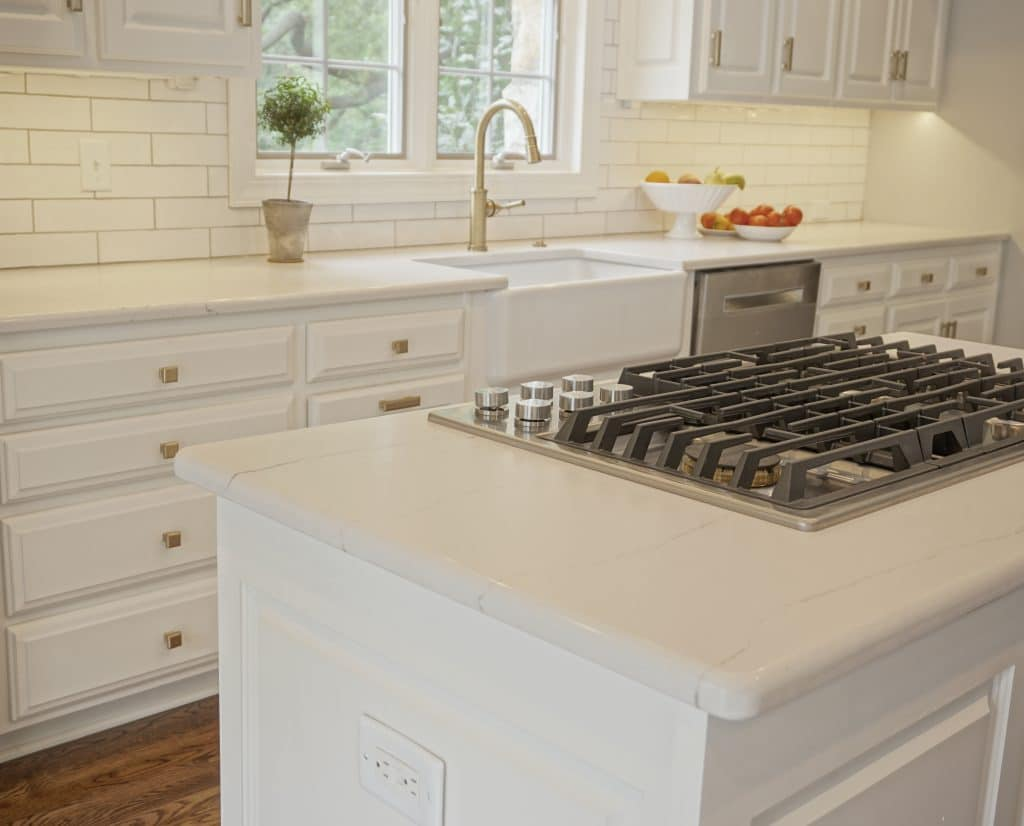 White Cambria kitchen